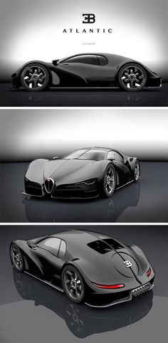 This modern take on the Atlantic, is a stunning hybrid of old and new with a modern Bugatti front half and classic rear. Bizarre and elusive, the late Bugatti Type Atlantic is largely considered to be one of the most beautiful automotive designs Supercars, Carros Lamborghini, Lamborghini Aventador, Audi R8, Futuristic Cars, Car Wheels, Bugatti Veyron, Bugatti Cars, Automotive Design