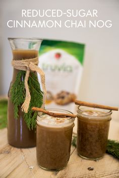 Does Cinnamon Chai Nog taste more like Chai or Nog? You'll have to drink one to find out. This recipe makes 5 servings, so it's the perfect non-alcoholic drink option for your holiday parties.