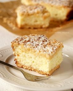 Shortbread cake with coconut foam – . Shortbread Cake, Mary J, Coffee Cake, Vanilla Cake, Cake Recipes, French Toast, Food And Drink, Cooking Recipes, Recipes