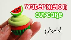 Hi guys, in this tutorial I'm going to show you how to make polymer clay watermelon cupcake.Stay tuned for 6 upcoming videos: previous videos: - m&m's cupcak...