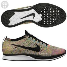 Nike Men's Flyknit Racer, DARK GREY/BLACK BLUE GLOW -PINK FL, 8.5 M US (*Amazon Partner-Link)