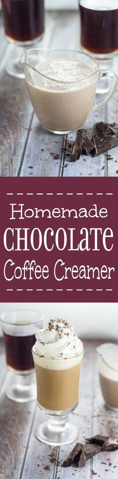 Homemade Chocolate Coffee Creamer is a delicious way to start the day and super easy to make! Make this Homemade Chocolate Coffee Creamer recipe in minutes using simple ingredients to turn your morning coffee into a delightful mocha treat!