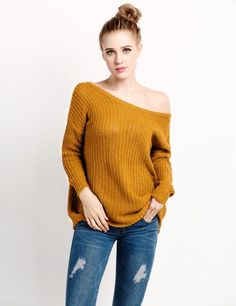 Product Description: Woman's Fall Fashion Stylish Loose Round Neck Knit Sweaters by PesciModa Material: Wool, 4 Colors available: Wine red, Khaki, Gray, Black, Collar: O-neck, Sleeve: Long Sleeve, Sty