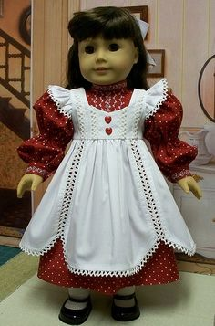 "American Girl Doll 18/"" Samantha Retired Play Dress Pinafore ONLY PC"