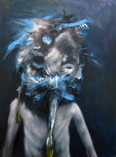 Swedish artist Emeli Theander  Growing Mad, 2009  Oil on canvas  120 x 90 cm