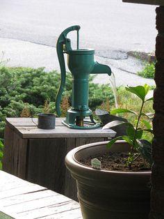 Hand Pump water fountain