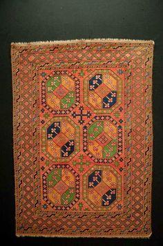 Ancien tapis antique rug CA: 140x100cm Beshir pièce de collection!!!