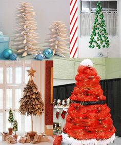 Christmas trees don't have to be evergreen. Unique Christmas Ornaments, Christmas Holidays, Xmas, Christmas Tree, Christmas Stuff, Holiday Parties, Holiday Decor, Holiday Ideas, Coastal Decor