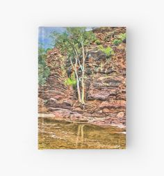 Rocks at Brachina Gorge, Flinders Ranges, Sth Australia Hardcover Journal by Terrella.  A painting of a section of Brachina Gorge, South Australia, rock formations from the Cambrian era. The landscape is approximately 540 million years old.  Approx 480km (298 miles) north of Adelaide, SA. • Also buy this artwork on stationery, apparel, phone cases, and more.