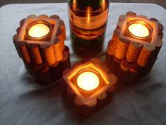 T+light+candle+holders+made+with+upcycled+wine+by+ShapelyWood,+$10.00