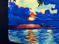 A personal favorite from my Etsy shop https://www.etsy.com/listing/254362713/ooak-acrylic-painting-sunset-seascape