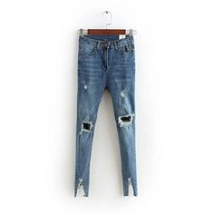 29.56$  Watch here - https://alitems.com/g/1e8d114494b01f4c715516525dc3e8/?i=5&ulp=https%3A%2F%2Fwww.aliexpress.com%2Fitem%2FSkinny-denim-vintage-hole-ripped-jeans-Fashion-high-waist-pencil-pants-dark-blue-gray-2016-autumn%2F32706377078.html - Broken leg opening Skinny denim vintage hole ripped jeans Fashion high waist pencil pants dark blue gray jeans Trousers split