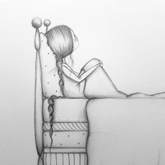 the princess & the pea ♡ artinprogress . Girl Drawing Sketches, Art Drawings Sketches Simple, Girly Drawings, Princess Drawings, Easy Drawings, Pencil Sketches Easy, Abstract Pencil Drawings, Pencil Drawings Tumblr, Pencil Drawings Of Girls