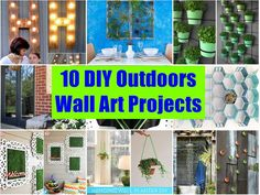 How To Make Outdoor Wall Art | Vinyl Tablecloth, Foam Board Insulation And Outdoor  Wall Art