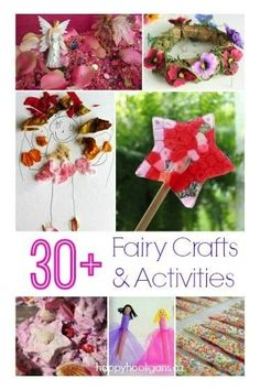 30 Fairy Crafts and Activities for Kids to make and do! Fairy crafts art projects fairy houses recipes and fairy party ideas for kids who love fairies. Fairy Crafts, Fun Crafts, Arts And Crafts, Diy And Crafts Sewing, Crafts For Girls, Happy Hooligans, Craft Activities For Kids, Sensory Activities, Motor Activities