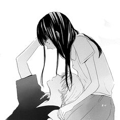 """Manga:last game """"Say something.please just keep talking.as long as I can hear your voice I'll know I'm not dead yet. That I'm still alive"""". Romantic Anime Couples, Cute Anime Couples, Manga Anime, Manga Art, Anime Love Couple, I Love Anime, Last Game Manga, Manga Romance, Image Couple"""