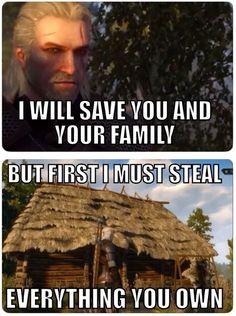 Witcher 3 Logic: Ha hahaha HA!