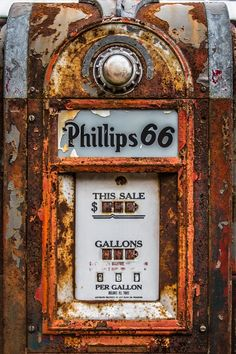 Old Gas Pumps, Vintage Gas Pumps, Phillips 66, Antique Phone, Old Gas Stations, Advertising Signs, Globes, Photographic Prints, Design Ideas
