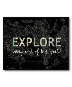 Loving this 'Explore the World' Map Canvas on #zulily! #zulilyfinds