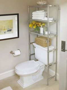 20 bathroom storage over toilet organization ideas. You have a small bathroom and you don't have idea how to design it? A small bathroom can look great and be fully functional as the large bathrooms. Over The Toilet Cabinet, Bathroom Storage Over Toilet, Shelves Over Toilet, Bathroom Storage Solutions, Small Bathroom Organization, Bath Storage, Bathroom Shelves, Storage Spaces, Organization Ideas