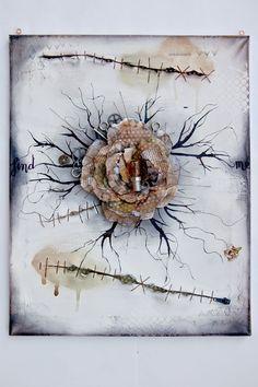 SCRAPBOOK ABUNDANCE: Flower canvas