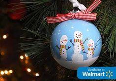 DIY Fingerprint Snowman Ornament 40 Christmas Crafts Ideas Easy for Kids to Make - Big DIY IDeas ornament crafts for kids 40 Christmas Crafts Ideas Easy for Kids to Make 50 Diy Christmas Ornaments, Homemade Christmas, Kids Christmas, Holiday Crafts, Diy Ornaments, Ornament Crafts, Xmas Baubles, Christmas Decorations, Christmas Parties