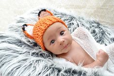 Newborn Baby Fox Hat Baby Fox Hat Woodland Baby by FamilyFairs