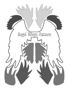 DIY Angel Wings by Heather Tracy for The Graphics Fairy!