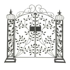 Protect your garden from stray animals and hawkers by getting this elegantly designed stunning garden gate.