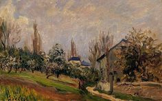 Near Moret, 1891, Alfred Sisley Size: 27x46 cm Medium: oil on canvas