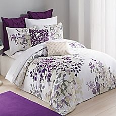 image of Kas® Winchester Duvet Cover in Purple