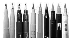 Erfahre welche Stifte und welches Papier sich für's Brush-Lettering eignen. Für Anfänger und Fortgeschrittene.