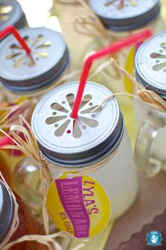 I was thinking of serving drinks in my 8 oz canning jars for my daughters' birthdays...I might have to add the lids!