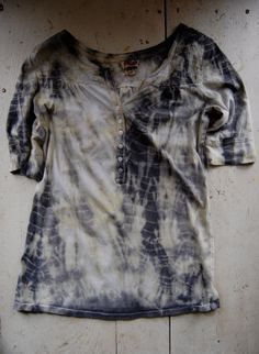 naturally dyed upcycled cotton tshirt by enhabiten on Etsy