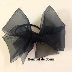 ハンドメイド♡フェミニンシフォンリボンゴム♡全6色❤️ Handmade ribbon hair accessory ❤️http://s.ameblo.jp/bouquet-de-coeur/
