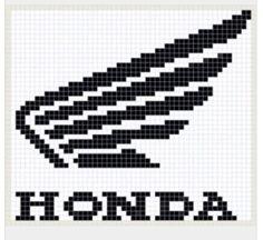 Logo Honda, Emblem Logo, Pixel Drawing, Animal Skeletons, Filet Crochet Charts, Perler Patterns, Tissue Boxes, Knitting Socks, Cross Stitching