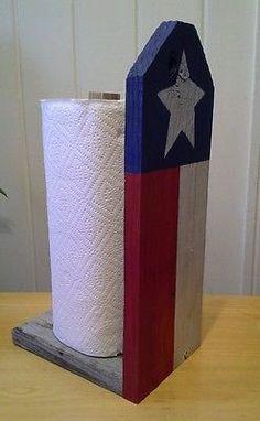 Handmade Texas Flag Papertowel Holder