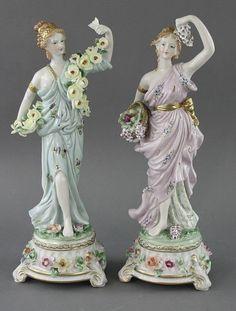"""Few porcelain figurines of porcelain M. O. fashion Jewellery - """"Seasons"""""""