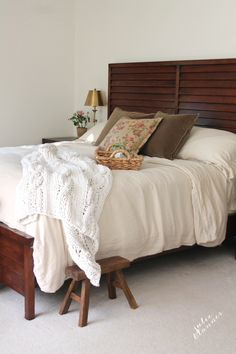 Master bedroom refresh for fall - making the most from what you have, adding accents