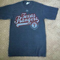 Texas Rangers shirt Men's size small Tx Rangers shirt. EUC. Back is just plain Majestic Tops Tees - Short Sleeve