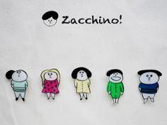 Zacchino!のゆるいイラストがブローチになりました。イラストはひとつひとつ手描きで、丁寧に作っています。洋服やバッグのアクセントにどうぞ。※価格は1つの...|ハンドメイド、手作り、手仕事品の通販・販売・購入ならCreema。