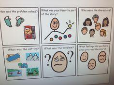 WH story questions    Autism visuals classroom school