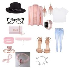 """Siri awareness affect breast cancer awareness outfit"" by tytiana-ransom on Polyvore featuring Glamorous, Stuart Weitzman, Karl Lagerfeld, Ted Baker, Napier, Serefina and Love This Life"