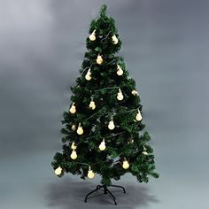 MasterPanel  6FT Christmas Tree Green w10LED String Lights Xmas Party Holiday Decor Warm White TP3394 -- You can get additional details at the image link. #XmasSeasonalDcor