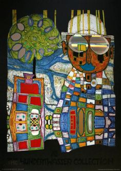 Reproduction and fine art print of the artist Friedensreich Hundertwasser titled : Tropical Chinese, with metal foil embossing. We also propose for sale a large choice of original works of Art and reproductions by contemporary artists Friedensreich Hundertwasser, Klimt, Gaudi, Beautiful Paintings, Chinese Art, Art And Architecture, Modern Art, Street Art, Abstract Art