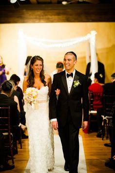Simple White Chuppah, Jewish Wedding