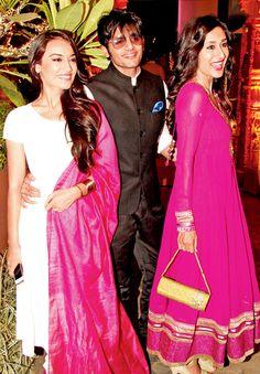 Surbhi Jyoti, Karanvir Bohra and Teejay Sidhu at a Diwali bash. Bollywood Stars, Bollywood Fashion, Tv Actors, Actors & Actresses, Indian Dresses, Indian Outfits, Qubool Hai, Vintage Bollywood, Ethnic Dress
