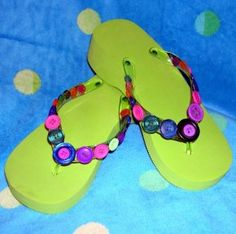 Embellished Flip Flops - Summer/Beach Crafts