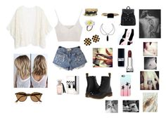 """Untitled #128"" by aldi-mix on Polyvore featuring beauty, MANGO, Dr. Martens, GUESS, LUMO, Chanel, Ray-Ban and Casetify"