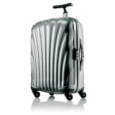 Samsonite Black Label Cosmolite Spinner Upright Luggage - Silver As seen in Fortune Magazine: Hardside exterior, Samsonite exclusive Curv material, Unique Best Luggage, Luggage Bags, Sustainable Building Materials, Luggage Reviews, Samsonite Luggage, Hardside Luggage, Cabin Luggage, Lucky Magazine, Christmas Deals